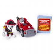 Set Marshall si mini masina de pompieri Ultimate Rescue Patrula Catelusilor
