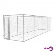 vidaXL Vanjski kavez za pse 8 x 2 x 2 m