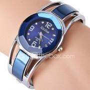 Dames Dress horloge Modieus horloge Armbandhorloge Gesimuleerd Diamant Horloge Kwarts Strass imitatie Diamond Roestvrij staal BandBangle
