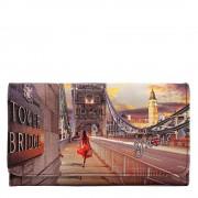 Y Not? Portafoglio Donna con Bottone Y NOT YES-347 London Tower Bridge