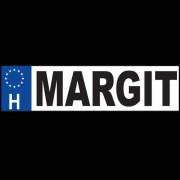 Margit - Név rendszámtábla