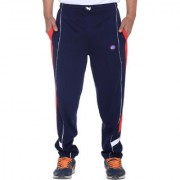 Vimal-Jonney Ultra Gray Navy Cotton Trackpants With Side Stripes-D7NAVY