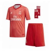 Set Echipament de Fotbal pentru Copii Adidas Real Madrid Roșu 18/19 (3ª) (3 Pcs) - Mărime 14-16 Ani