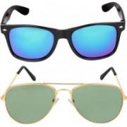 Scaglia Wayfarer Sunglasses(Blue, Grey)