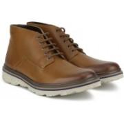 Clarks Frelan Hike Cognac Leather Boots For Men(Tan)