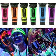 Smartcraft Face Colour Paint (Pack of 6),UV Blacklight Reactive Glow Face and Body Paint,Set of 6 Tubes Neon Fluorescent,25 ml Each Tube,Diwali Colour Paint