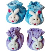 Sonpra New Born Baby Fashion Soft Cotton Booties Combo Set (0 -6 Month)
