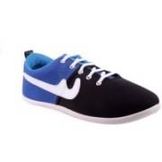 Shoe Striker Canvas Shoes For Men(Blue, Black)