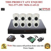 Cp Plus 1.3 MP HD 8CH DVR + Cp plus HD DOME IR CCTV Camera 8Pcs + 1TB HDD + ALL ACCESSORIES