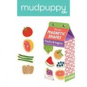 Mudpuppy Zestaw drewnianych magnesów Owoce i warzywa - magnesy 35 elementów,