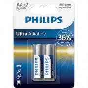 Philips Ultra Alkaline Battery LR6E2B 2xAA Ultra Alkaline Battery Pack