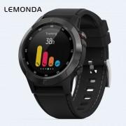 LEMONDA M4 1.3-inch IPS Round Screen Sport with GPS Compass Barometer Smart Watch - Black