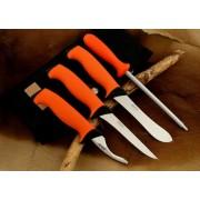 Komplet noży rzeźniczych EKA Butcher Set 57-59HRC ostrzałka