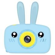 Cartoon HD Camera voor Kinderen met 3 Spellen - 12MP - Konijn / Blauw