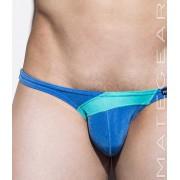 Mategear Mae Chun Back Push Up Tapered Sides V Front Ultra Bikini Swimwear Blue 1700403