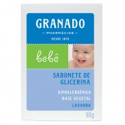 Sabonete Infantil Granado Bebê Glicerinado Lavanda 90g