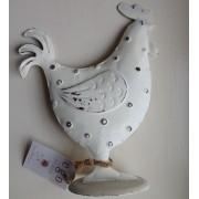 Gallo di metallo - decorazione pasquale, dimensioni medie