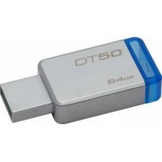 USB Flash Drive Kingston 64GB DataTraveler 50 USB 3.1 Metal-Albastru