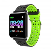 Smart Wristband Heart Rate Blood Pressure Monitor Smart Sports Bracelet with Silicone Watchband - Green