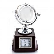 Glob de birou cu ceas termometru si indicator de umiditate