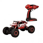 TTLIFE RC Car 2.4G 4CH 4WD Rock Crawlers 4x4 Driving Car 1:18 Double Motors Drive Bigfoot Car Remote Control Car Model Off-Road Vehicle Toy(Red)