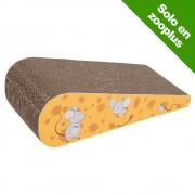 Rascador de cartón Cheesy para gatos.- 43,5 x 19 x 12 cm (L x An x Al)