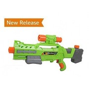 Chams Big pressure Summer Water gun for fun at outdoor entertainment for kids with unique cool design Color: Green