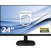 """Philips V-line 243V7QJABF - LED-Monitor - 24"""" IPS - 1920 x 1080 Full HD - 60 Hz - 5 ms - 250 cd/m²"""