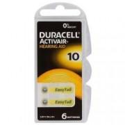 Baterii pentru aparate auditive Duracell ZA 10 Zinc Aer 6 baterii set