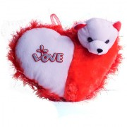 Red Heart Shape Soft Toy Pillow