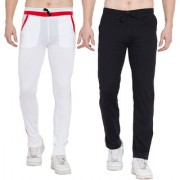 Cliths Stylish Lower for Men/ Sports trackpants For Men- Pack of 2 (Red White Black Grey)
