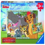 Puzzle garda felina, 2x12 piese Ravensburger