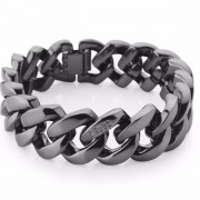 The Rubz Metal 15mm Unisex Bracelet Gunmetal