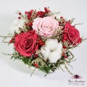 """""""Red Roses Forever"""" Aranjament floral trandafiri stabilizati"""
