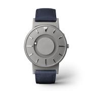 Ceas de mână tactil unisex EONE Bradley cu curea albastră de piele acoperită cu textil