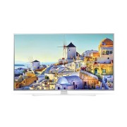 "LG 49UH664V, 49"" 4K UltraHD TV, 3840x2160, DVB-T2/C/S2, 1200PMI, Smart, ULTRA Slim, WiDi, WiFi 802.11.ac, Bluetooth, Miracast, DLNA, LAN, CI, HDMI, USB, TV Recording Ready, Narrow Bezel, Crescent Stand, Metallic/White"