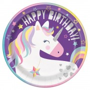 Unicorn Party Plates (Pack of 8)