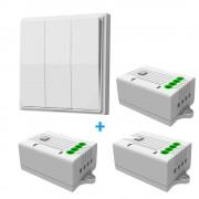 Pachet Intrerupator triplu Kinetic Energy + 3 Receptoare 1 circuit 5A Wi-Fi