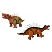 Decor Express Walking Dinosaur with LED, Roaring Sounds Electronic Toy Animal Toy with Light/Walk/Sound (Random Color)