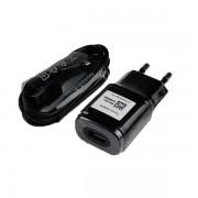 LG Travel Charger MCS-04ED 1800mA - захранване и microUSB кабел за LG устройства с microUSB (черен)