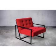 Gilli Fotel Krabi aksamitna czerwień, czarna podstawa