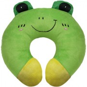 Ultra Frog Travel Neck Cushion Pillow - Green 14 Inches