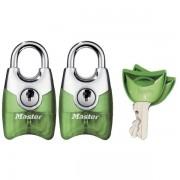Set 2 ks visacích zámků 20mm Master Lock Fusion 4630EURTAST - zelený