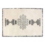 Miliboo Teppich Berber-Style aus Wolle Schwarz und Weiß 160x230cm SORA