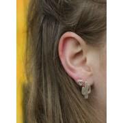 Minimalistische statement oorbellen diamant goudkleurig