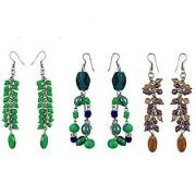 eshoppee designer handmade beaded earrings set of 3 pair