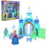Emob Beautiful Princess Dream Castle Toy for Kids with Little Princess and Accessories (Blue)