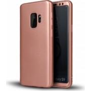 Husa FullBody Silicon MyStyle Rose-Gold pentru Samsung Galaxy S9 Plus acoperire completa 360 grade cu folie de protectie gratis