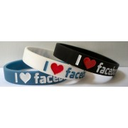 I Like Facebook Szilikon karkötő