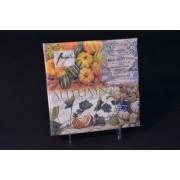 Őszi papírszalvéta dísztökökkel 33x33 cm 20 db